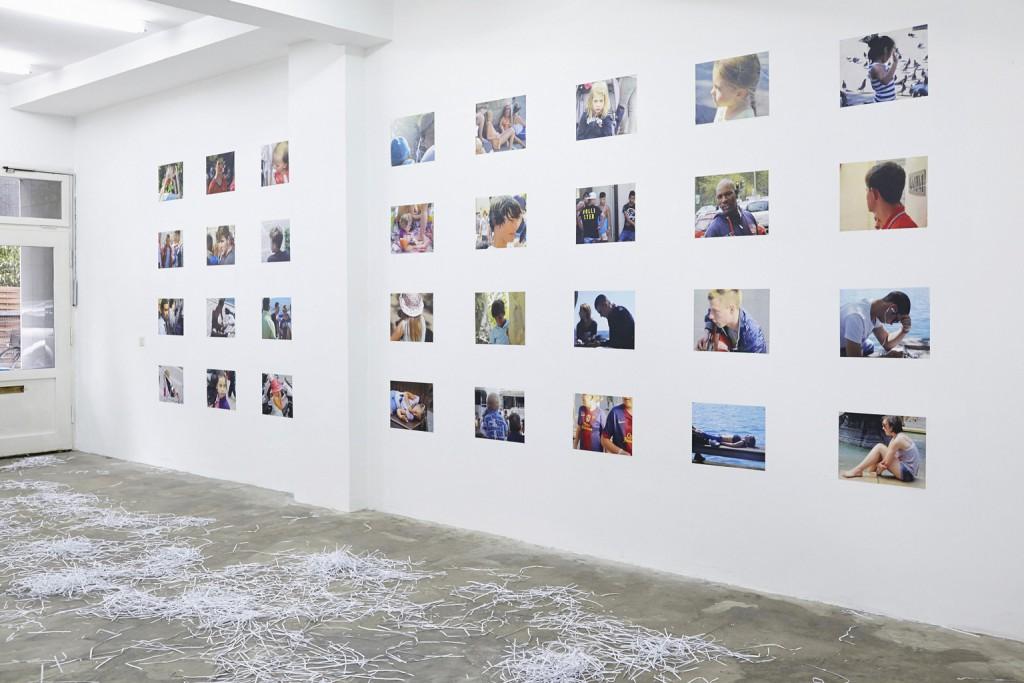 Kaspar Müller, Ohne Titel,Laserdrucke auf Papier, 2013, 28 Stück je 40 x 30 cm
