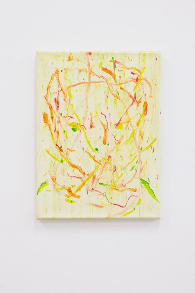 Patrick Niemann, Hoffnungsloser Mann - hochverschuldet - sucht, oil on canvas, 40 x 30cm, 2013