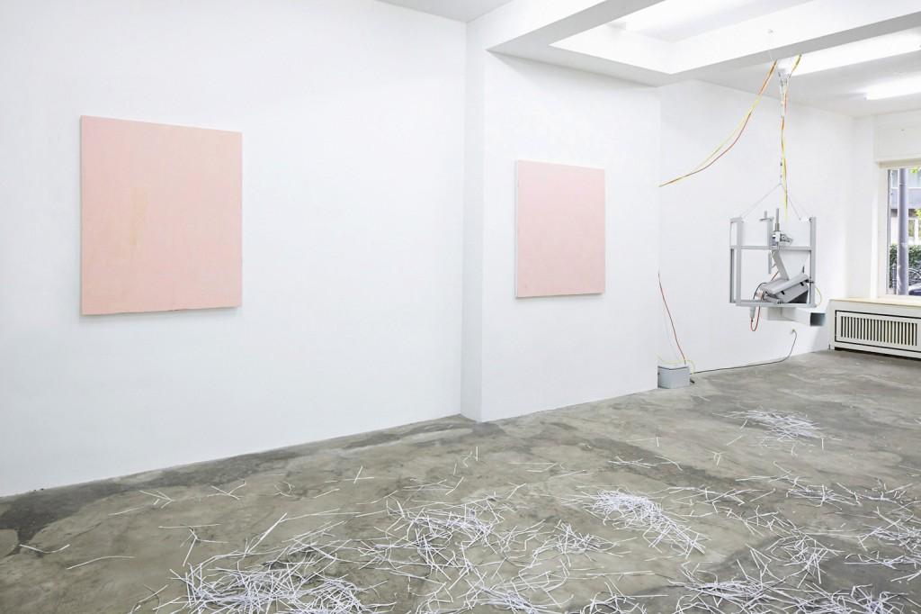 Emil Michael Klein, Ohne Titel 1+2, 2015, Wachs auf Leinwand