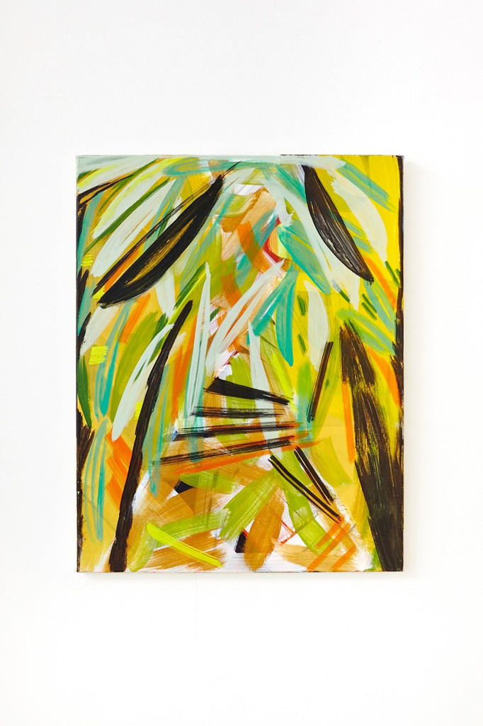 Bananeraie, 2014, Tempera auf Leinwand, 70 x 55 cm