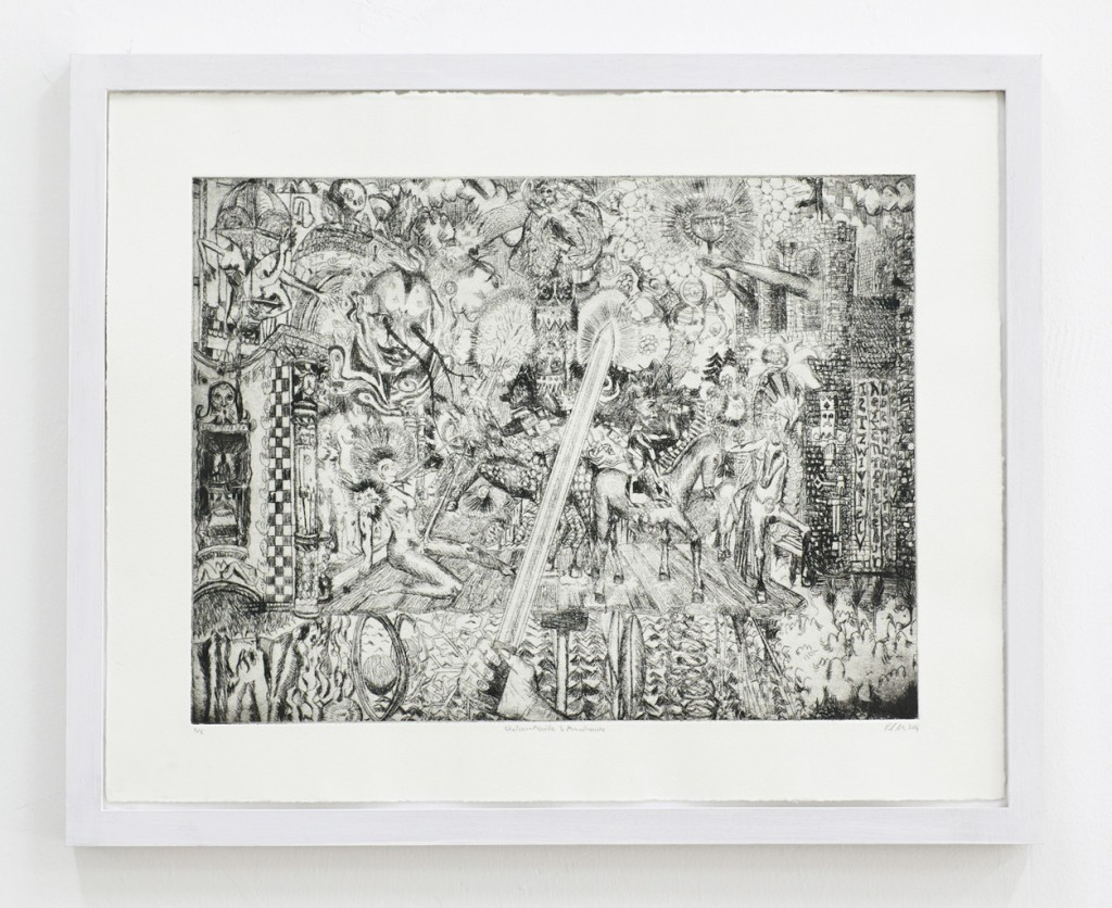Paul Maciejowski, Chateau merveille – munsalvaesche, Etching, 43 x 53 cm