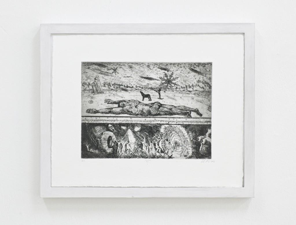 Paul Maciejowski, 0˚, 2014, Kaltnadelradierung, 26 x 32 cm