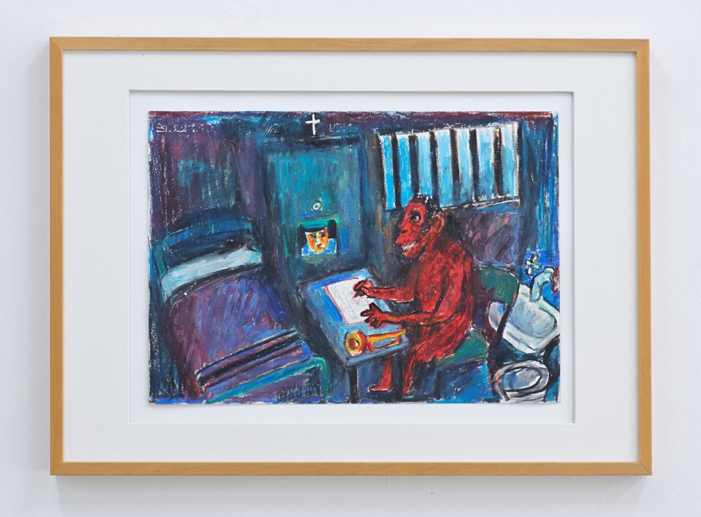 Otto Muehl, Konzentration aus dem Gefängnis No. 1, 1991