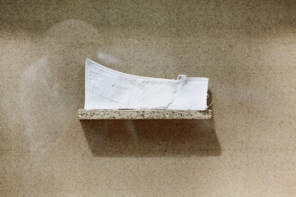 Kragen (Morrissey), fabric, 18 x 9 cm, 2005, loan from Michael Rommelfanger