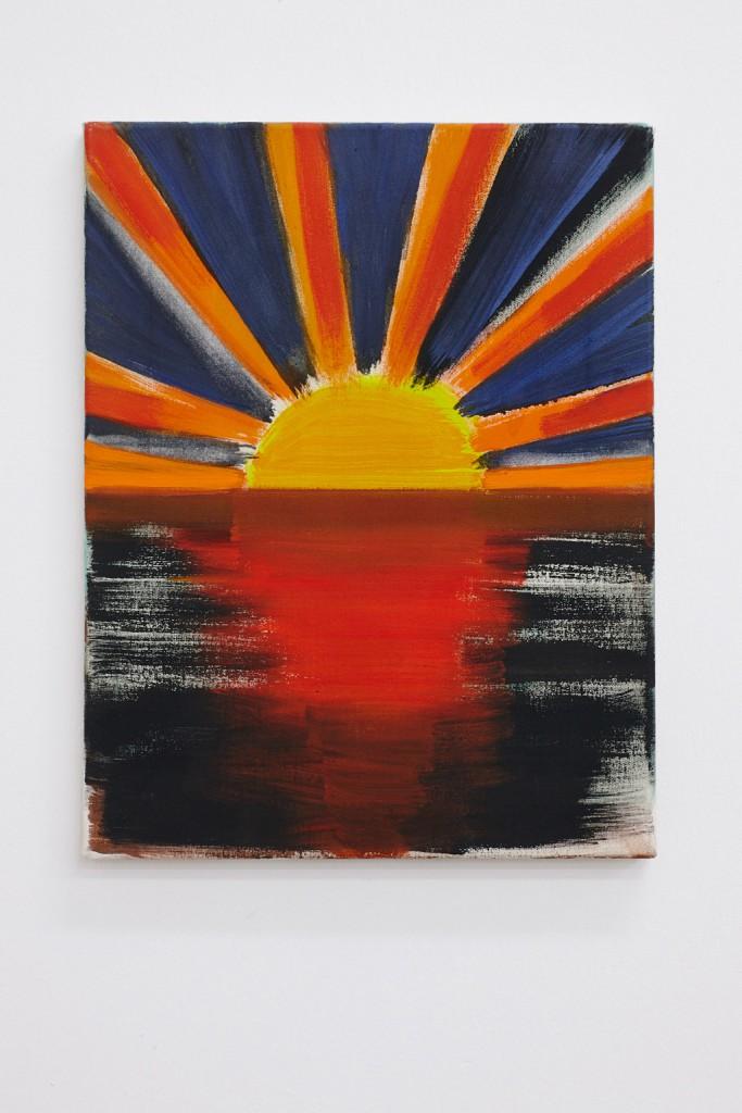 Corinne Chotycki, Sans Soleil, 45 x 35cm, tempera on canvas, 2010