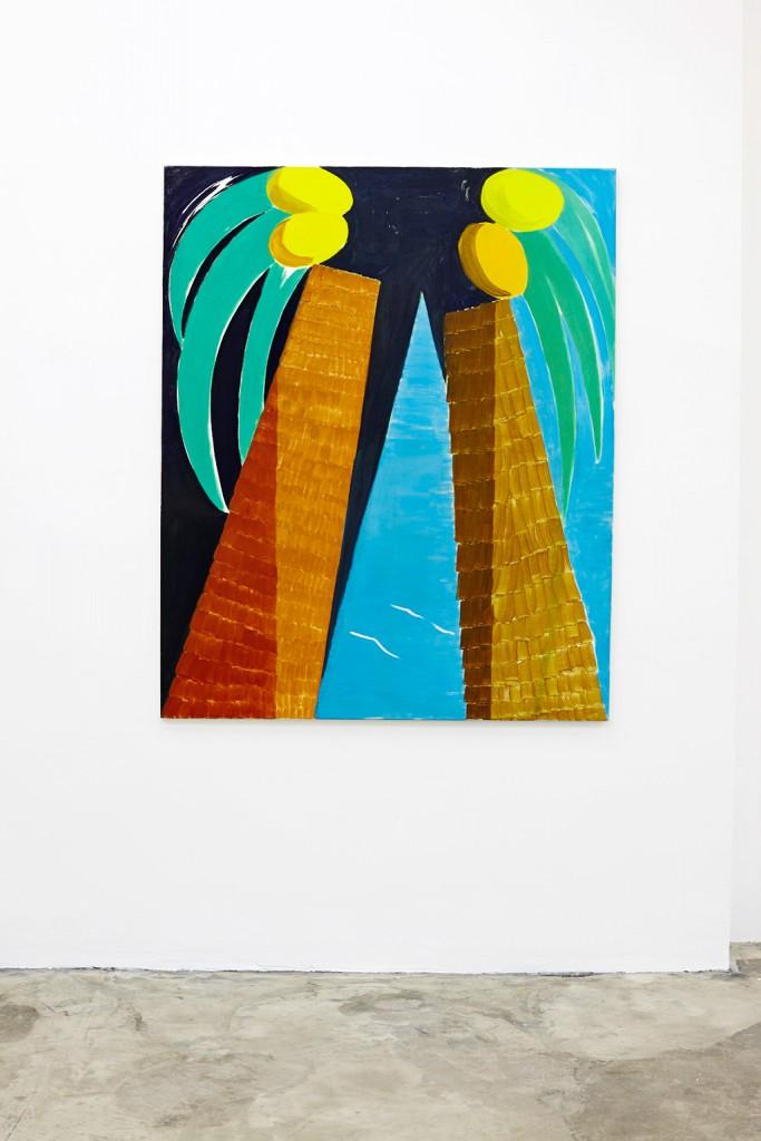 Nice mit J., 2013/2014, Tempera auf Leinwand, 135 x 110 cm