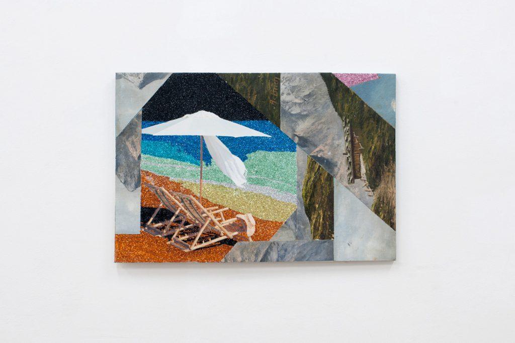 Justin Lieberman, Weißer Rabe Collage no 3, 2017