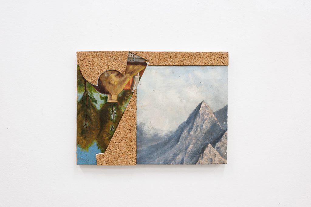 Justin Lieberman, Weißer Rabe Collage no 4, 2017